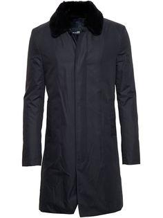 пальто с меховым воротником Army Yves Salomon