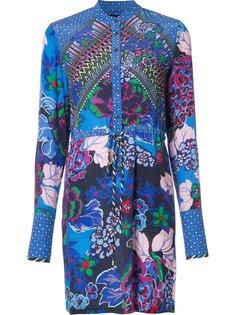 floral print shirt dress Saloni