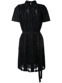 платье-рубашка с вышивкой Rochas