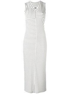 приталенное полосатое платье миди  Mm6 Maison Margiela