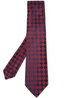галстук с геометрическим принтом Kiton