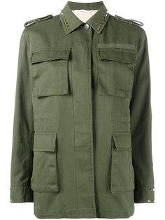 куртка Rockstud в стиле милитари Valentino