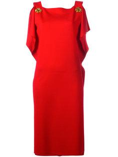 декорированное платье  Alberta Ferretti