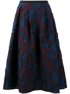 юбка с цветочной вышивкой Erdem
