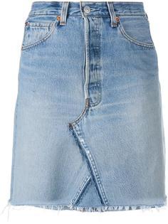 короткая джинсовая юбка Re/Done