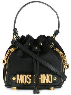 сумка-мешок мини с логотипом  Moschino