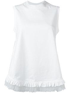 блузка с оборками на подоле Simone Rocha