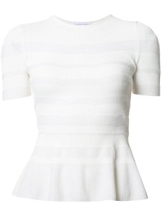 striped ruffle knit top Narciso Rodriguez