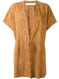 tied fastening shortsleeved coat Drome