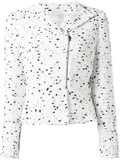 zipped tweed jacket Giambattista Valli