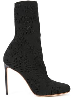 perforated detail mid-calf boots Francesco Russo