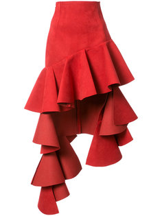 asymmetric ruffled trim skirt   Jacquemus