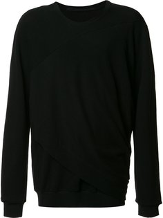 draped detail sweatshirt  Julius