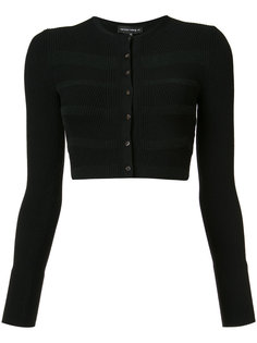 cropped striped accent cardigan Narciso Rodriguez