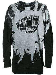 cobweb print sweatshirt  Ann Demeulemeester