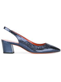туфли с открытой пяткой Santoni