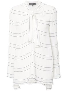 tied neck striped blouse Proenza Schouler