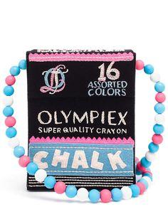 сумка на плечо Chalk Box с вышивкой Olympia Le-Tan