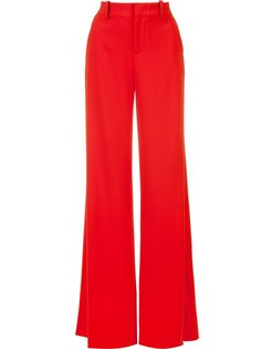 slit high-waisted trousers Alice+Olivia