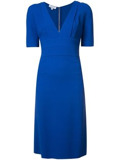 fitted waist V-neck dress Narciso Rodriguez
