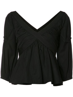pleated trim blouse Piamita