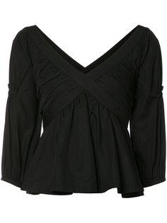 pleated trim blouse Piamita