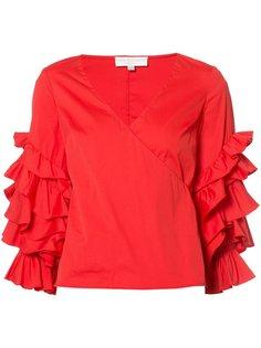 ruffled sleeve blouse Caroline Constas