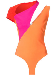 colour block playsuit  Mugler