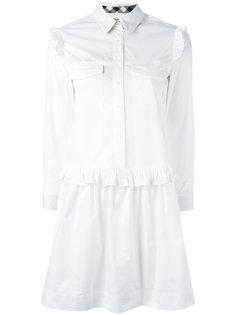 платье-рубашка с рюшами Burberry
