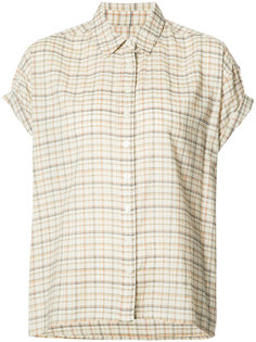 plaid shortsleeved shirt The Great