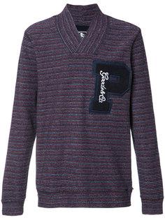 striped V-neck sweatshirt Prps
