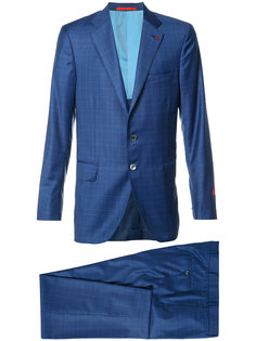 checked suit Isaia