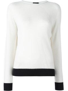 свитер с контрастной окантовкой  Giorgio Armani