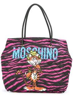 сумка-тоут с принтом тигра Moschino