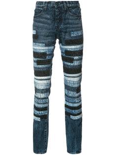 striped slim-fit jeans Prps