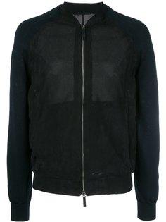 куртка бомбер с перфорацией Giorgio Armani