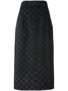 юбка в клетку Marc Jacobs
