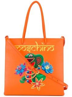 сумка-тоут с принтом змеи Moschino