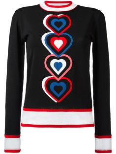 свитер с контрастными деталями Fendi