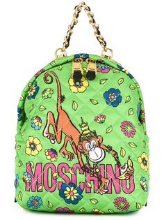 рюкзак с принтом обезьяны в короне Moschino