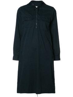 zipped neck shirt dress Engineered Garments