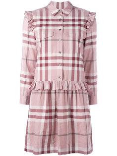 платье в клетку Burberry