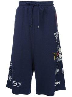 шорты с вышивкой  Maison Mihara Yasuhiro