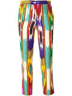 укороченные брюки в полоску Etro