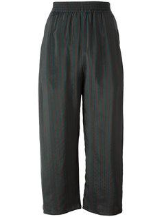 полосатые укороченные брюки Mm6 Maison Margiela