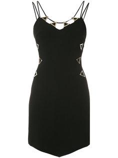 metal neckline dress David Koma
