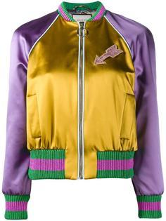 куртка-бомбер с вышитым котом Gucci