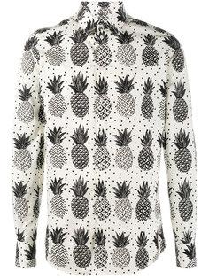 рубашка с принтом ананасов Dolce & Gabbana