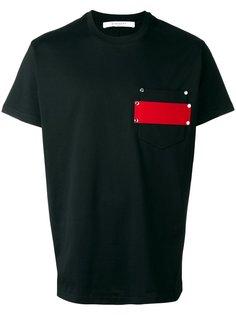 футболка с нагрудным карманом  Givenchy