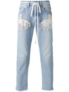укороченные джинсы с необработанными деталями Off-White